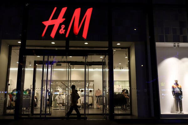 An H&M store in Beijing. A statement the company posted last September stirred outrage on Chinese social media this week.