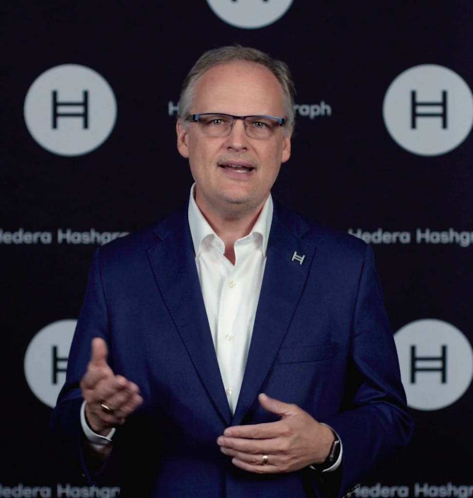 Mance Harmon, CEO of Hedera, a U.S.-based platform that offers a distributed ledger technology like blockchain.