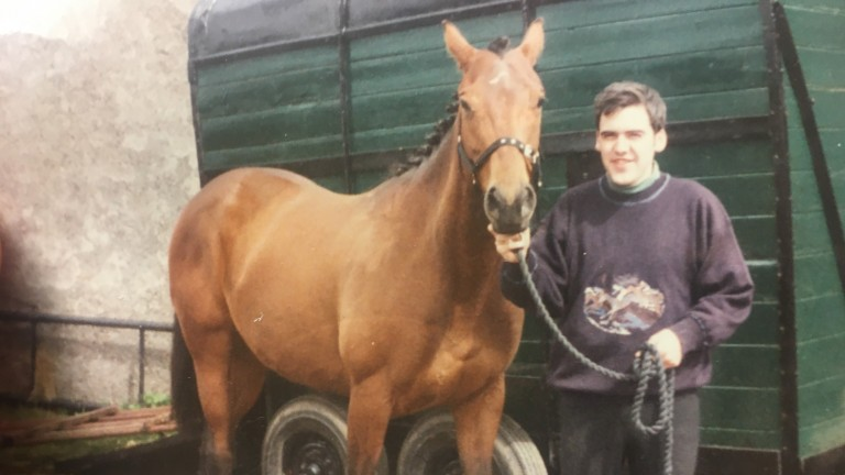 Stephen McCluskey with his first thoroughbred, Arkley Surprise