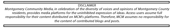 MCM disclaimer for blogger content